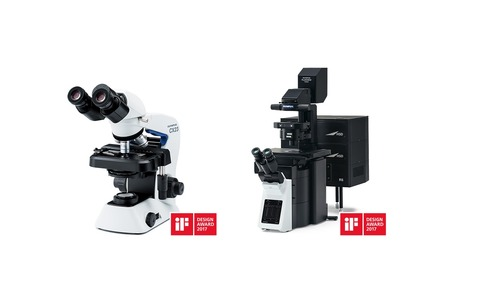 The FLUOVIEW FV3000 and CX23 microscopes from Olympus