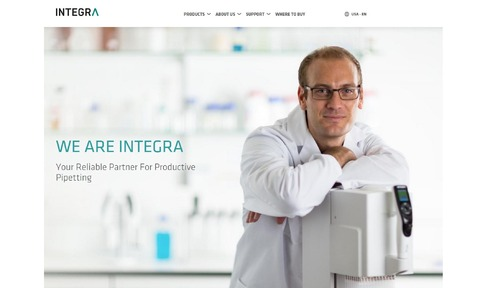 Integra's new website formats automatically to different devices