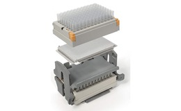 Genevac heat transfer plates provide a snugly fitting insert beneath the microplate
