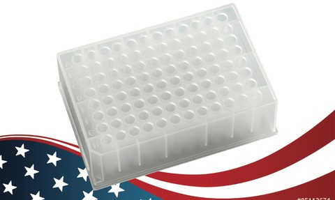 A USA-manufactured 96-well sample storage plate is now available.