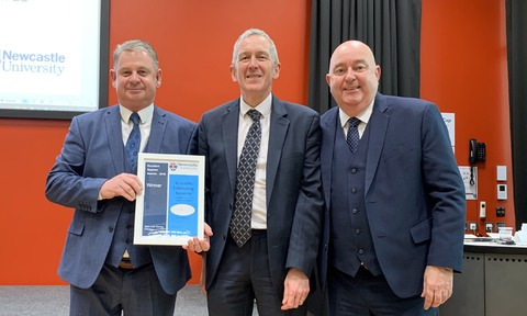 The SLS Team Receive their Newcastle University Award