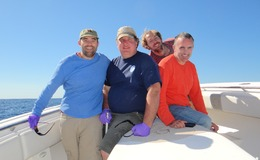 The sampling team in October in 2012 (left to right): Dave Valentine, Robert Nelson, Matthias Keller