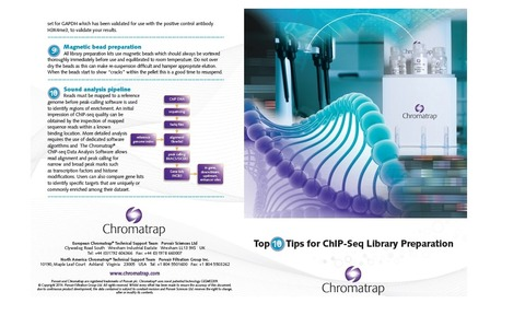 Top 10 Tips for ChIP-seq Library Preparation